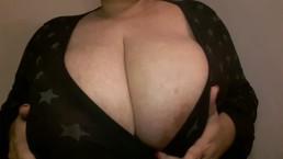 Amautur Latina BBW Huge Natural 42DD Bouncing Boob Play