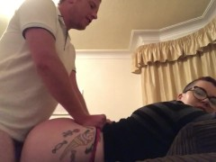 Fucked by daddy on the sofa