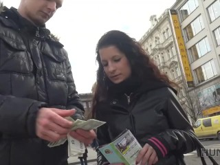 HUNT4K. Money make guy eager to sold his girlfriend's moist cunny