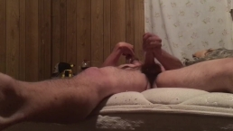 Jacking off feels so good legs start to twitch and cumming hard