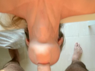 Blonde Russian slut takes it in the ass and loves it