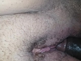 Wet pussy with dick