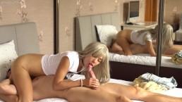 Massage sensuel se transforme en orgasme avec pipe et cunnilingus en 69