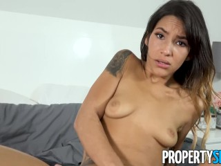 PropertySex - Hot thief babe takes roommate's big dick