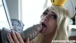 Thirsty Bowsette Gets 3 Massive Facials - Bad Dragon And B/G