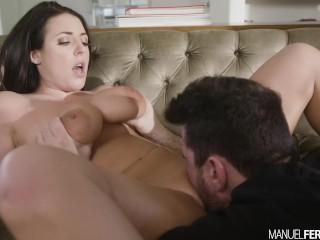 Manuel Ferrara - Angela White's Big Tits Bounce As Manuel Pounds Her Ass