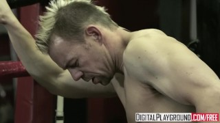 Screen Capture of Video Titled: Digital Playground - Jesse Jane & Erik Everhard fuck in the ring