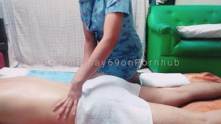 Amateur Pinay Teen's First Homemade Massage - Ends with Intense Creampie!