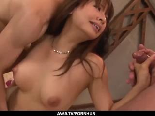 Premium Buruma Aoi enjoys dick in both pussy and - More at 69avs.com