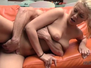 HUNT4K. Sex for cash with stranger drives blonde to several orgasms