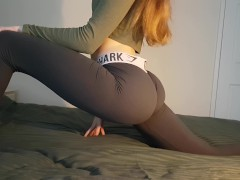 ***FIRST SOLO VIDEO*** Fit Teen Post Workout Orgasm (Perfect ASS!) - DLE