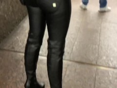 Blonde in Black Puffy Jacket with Fur Hood Sex