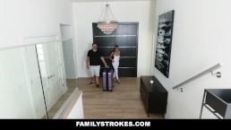 FamilyStrokes - Christiana Cinn Swallows Her Stepsons Load
