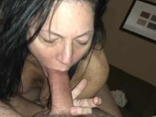 Slow blowjob she wants to deep throat