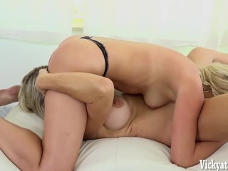 Mia Malkova's First Ever Video with Busty MILF Vicky Vette!