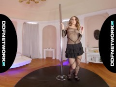 Super hot blonde busty sensation Kitana Lure teases in VR XXX vid POV style