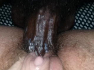 Milf with Hairy Pussy Creams for BBC
