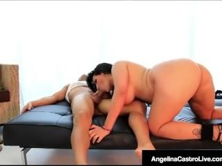 Cuban BBW Angelina Castro Sucks & Fucks Stranger!