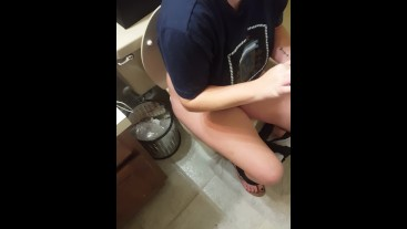 Cute Teen Girl Peeing in the Bathroom