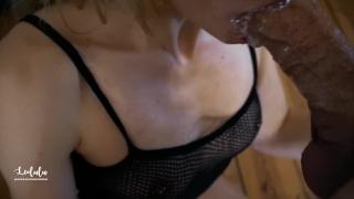 Petite Blonde Deepthroat and ANAL Big Cock at Home - Amateur LeoLulu