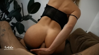 Petite Blonde Deepthroat and ANAL Big Cock at Home - Amateur LeoLulu