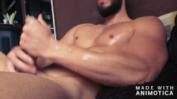 Quick oiled masturbating