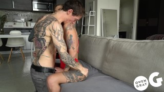 Tattooed babe Kleio Valentien Intense Creampie Sex Tape