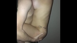 Horny girlfriend fucks me while my family is asleep