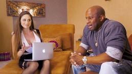 Anal Slut Cathy Heaven's Interview Turns Interracial DP