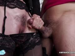 CamSoda - Step Mom Makes Son Cum In Panties Before Work, Wet Pussy