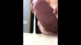 Double Orgasm Wank With Huge Sperm Load