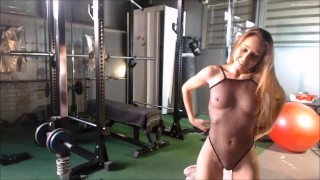 Verona v/d Leur live flexible gym session and orgasm