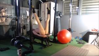 Verona v/d Leur live flexible gym session and orgasm