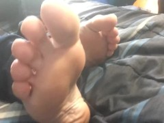 My Bare Feet and Toes on Displa