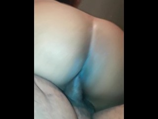 Sideways doggy big ass bouncing on dick