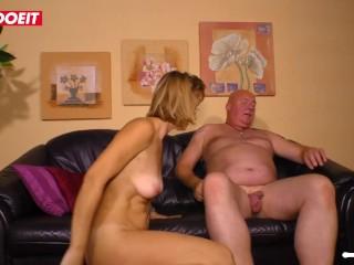 Horny German Amateur MILF cheats and fucks her boss