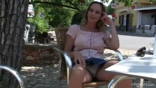 Big Tits MILF Elegant Eve Public Fun in Portugal