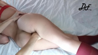 Female Orgasm with Crossed Legs and Hard Fingering ~DirtyFamily~