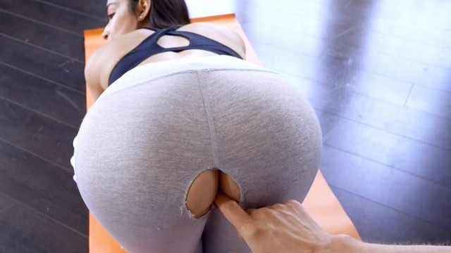 Rounded boobs photos women yoga - Stepsiblingscaught - step sisters ripped yoga pants s8:e5