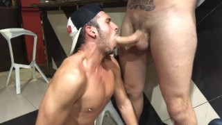Sex in bar | CUM ON FACE