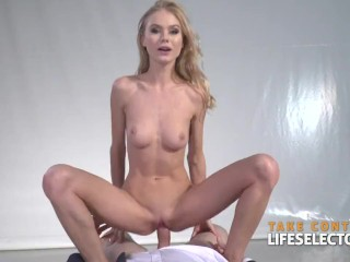 Lesbian beauty contestant Nancy is willing to get fucked by a man in order