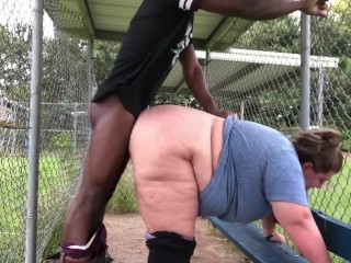 Bbw takes dick at the public park