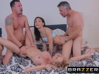 BRAZZERS † Abella Danger & Brandi Love have fun on a MOTORBUNNY