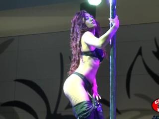striptease in public