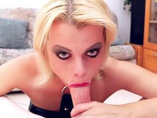 Big tit blonde Nadia White POV extreme deepthroat