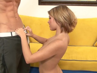 Petite PAWG Teen Shows Her Big Natural TIts & Rides cock During Casting