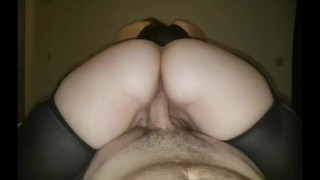 Redhead riding big dick reverse cowgirl