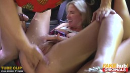 FAKEhub Originals Fake Taxi to Fake Hostel with big tits & squrting orgasms