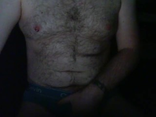 Playing with my balls and nipples until I cum