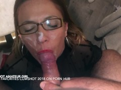 The queen of cock sucking and cumshot facial 2018 - hot amateur girl pov